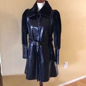 Emilio Pucci patent leather coat